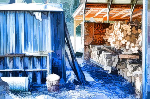 Flammable Wall Art - Painting - Wooden Furnace 1 by Jeelan Clark