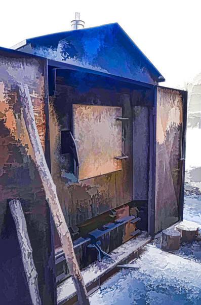 Flammable Wall Art - Painting - Wooden Furnace by Jeelan Clark