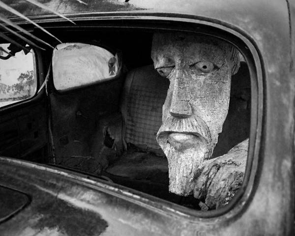 Photograph - Wooden Head by Jim Mathis