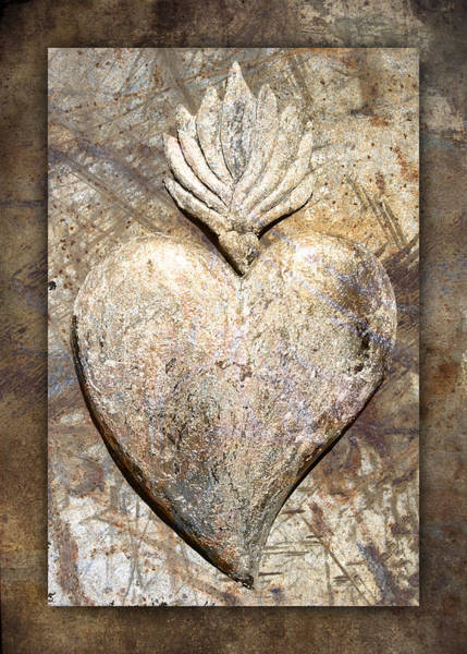 Mexico Photograph - Wooden Heart by Carol Leigh