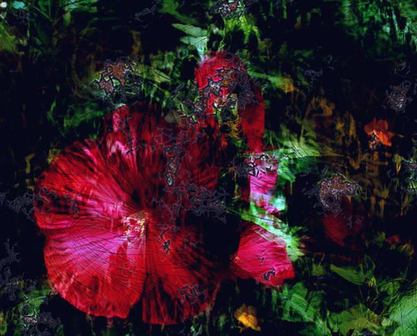 Wall Art - Digital Art - Wooden Hibiscus II by Patricia Motley