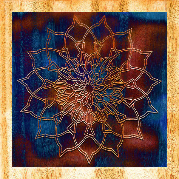 Symmetrical Digital Art - Wooden Mandala by Hakon Soreide