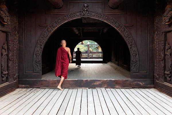 Photograph - Wooden Monastery by Marji Lang