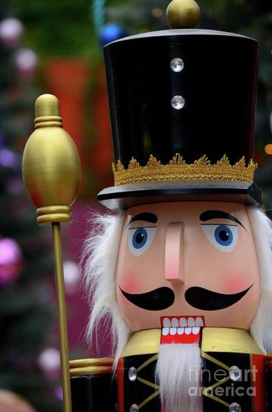 Photograph - Wooden Nutcracker Statue In Colorful Regalia From Christmas Fairy Tale Story by Imran Ahmed