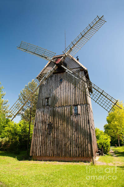 Wall Art - Photograph - Wooden Old Windmill House by Arletta Cwalina