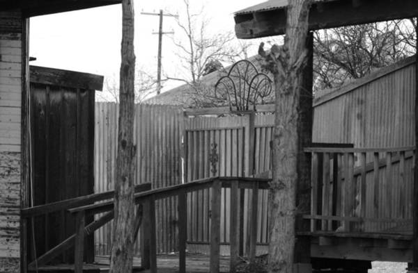 Photograph - Wooden Porch In Black And White by Colleen Cornelius