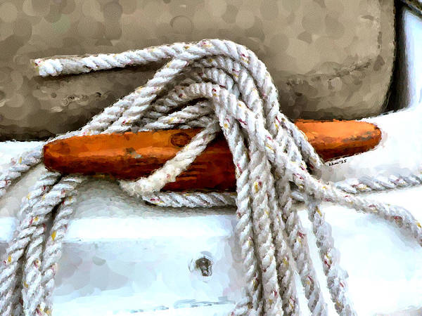 Photograph - Wooden Sailboat Cleat One by Kathy K McClellan