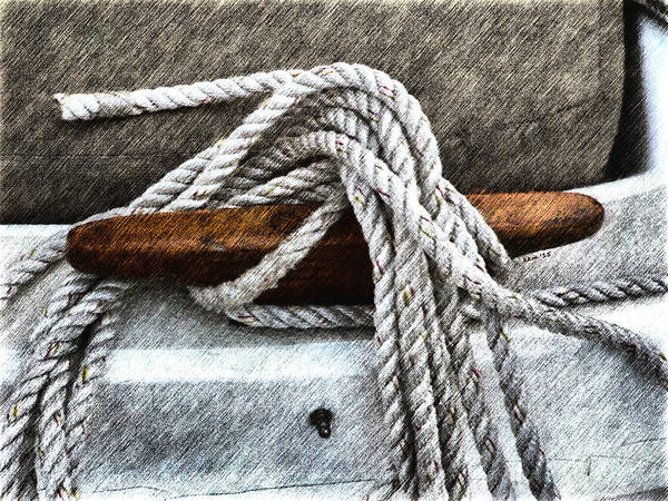 Photograph - Wooden Sailboat Cleat Two by Kathy K McClellan