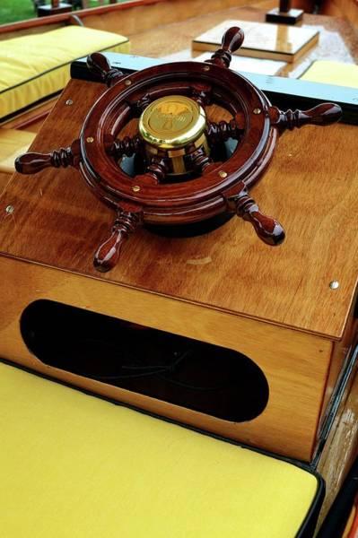 Photograph - Wooden Ship Wheel by Michelle Calkins