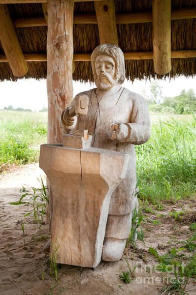 Wall Art - Photograph - Wooden Slav Sculpture In Grodzisko by Arletta Cwalina