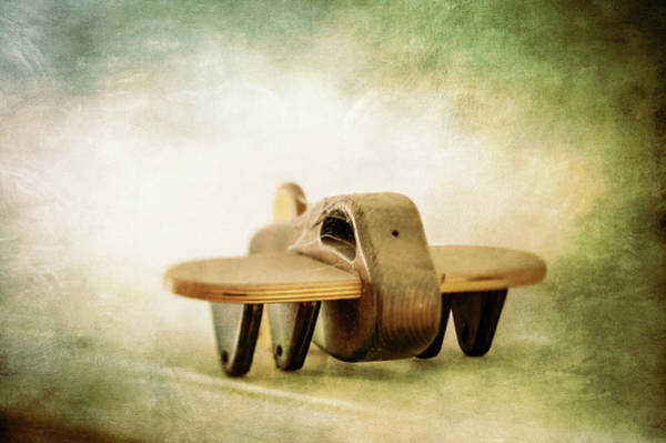Wall Art - Photograph - Wooden Toy Airplane On Fireplace Mantel by YoPedro