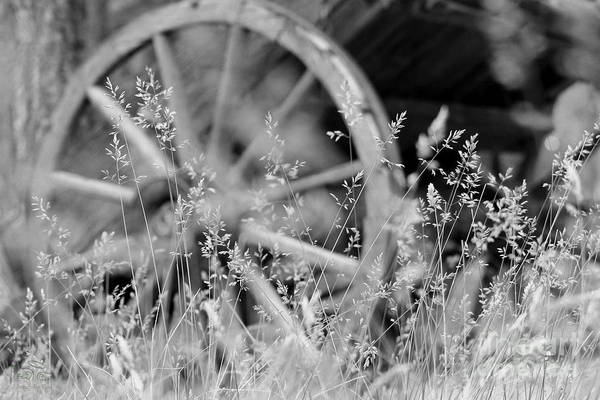 Photograph - Wooden Wagon Wheel by Beauty For God