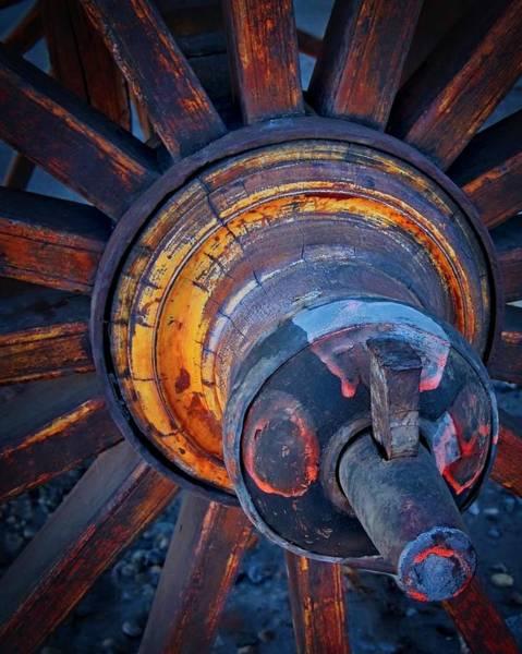 Photograph - Wooden Wheel Hub by Flying Z Photography by Zayne Diamond