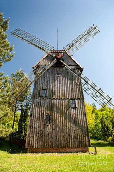 Wall Art - Photograph - Wooden Windmill Kozlak House by Arletta Cwalina