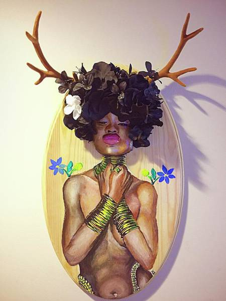 Mixed Media - Woodgoddess by Baroquen Krafts