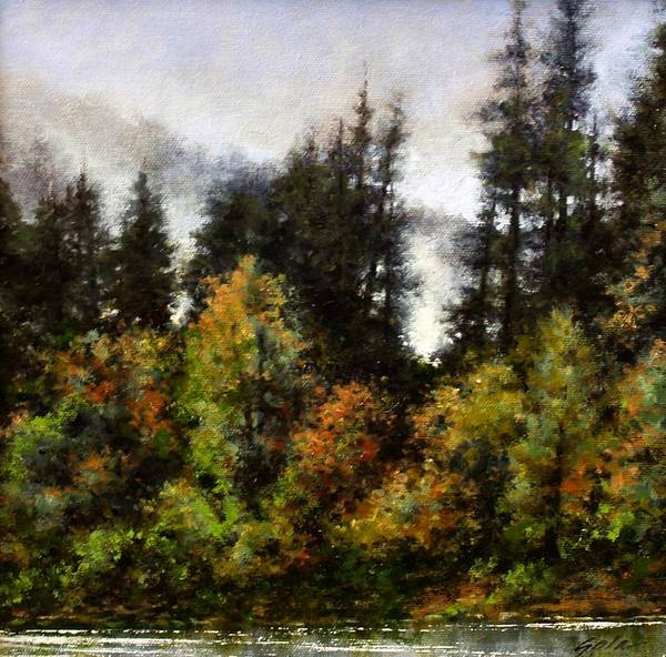Stream Wall Art - Painting - Woodland Bottoms In April by Jim Gola
