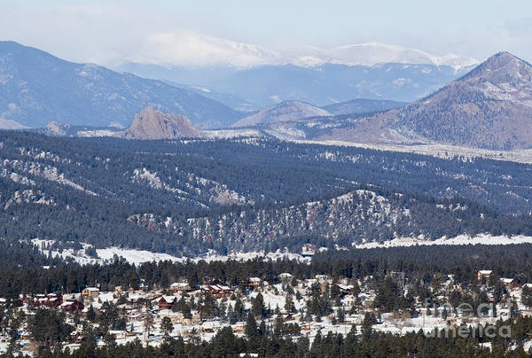 Photograph - Woodland Park Colorado In Wintertime by Steve Krull