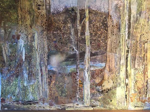 Woodland Mixed Media - Woodland Sanctuary by Joan Sharron