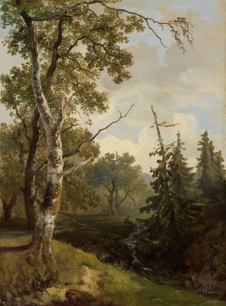 Painting - Woodland Scene In Wolfheze Johannes Warnardus Bilders 1860  1890 by Artistic Panda