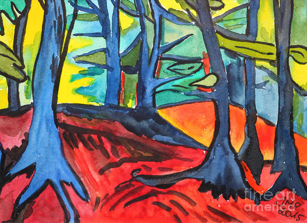 Painting - Woodland Scene by Jutta Maria Pusl
