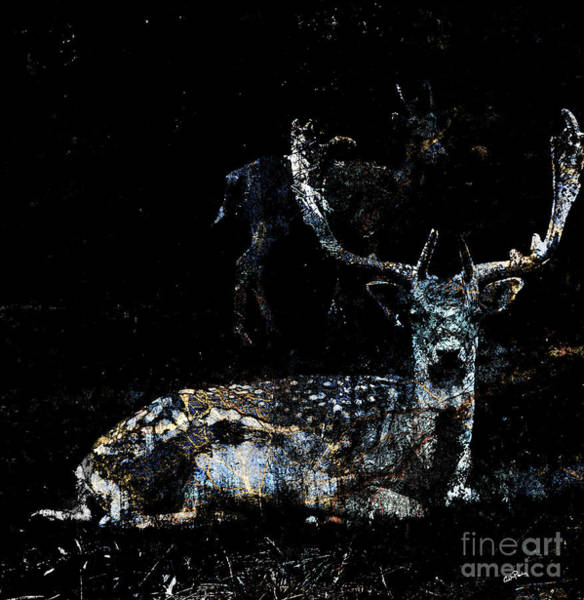 Woodland Animals Mixed Media - Woodland Stag by Callan Art