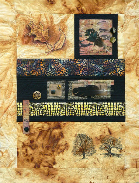 Tapestry - Textile - Woodland Walk by Pat Dolan