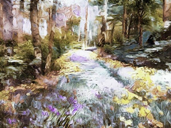 Blooming Tree Mixed Media - Woodland Wildflowers by Susan Maxwell Schmidt