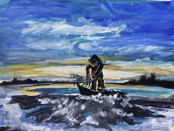 Eureka Painting - Woodley Island Fisherman by Lynn Takacs