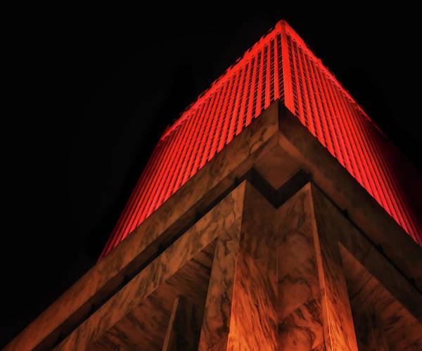 Wall Art - Photograph - Woodmenlife Tower - Omaha - Red by Nikolyn McDonald