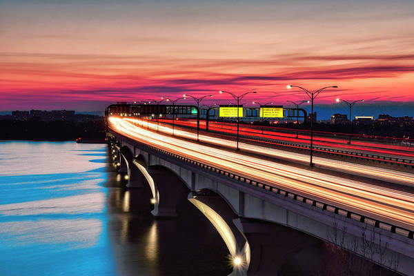 Photograph - Woodrow Wilson Memorial Bridge by Bill Dodsworth