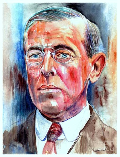Wall Art - Painting - Woodrow Wilson Painting by Suzann Sines