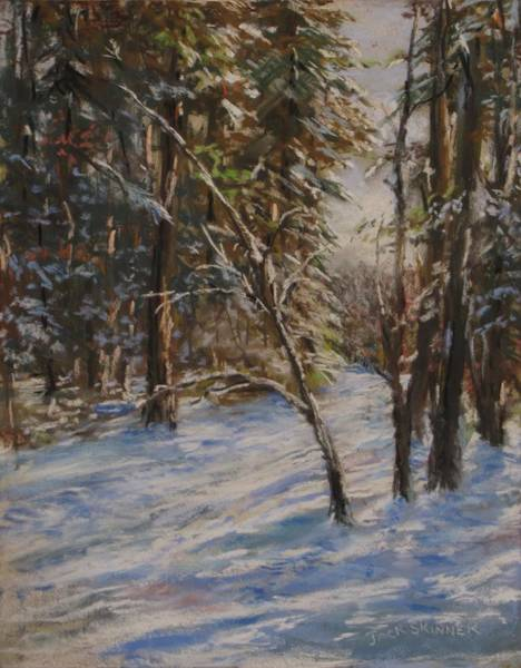 Wall Art - Pastel - Woods And Snow At Two Below by Jack Skinner