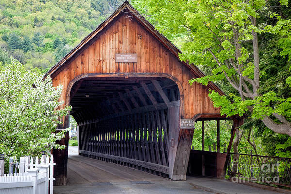 Wall Art - Photograph - Woodstock Middle Bridge by Susan Cole Kelly