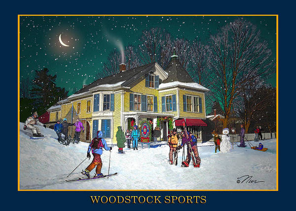 Photograph - Woodstock Sports In Winter by Nancy Griswold