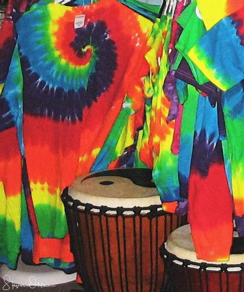 Designs Wall Art - Mixed Media - Woodstock - Tie Dyed Tees And Drum Set - Signed Limited Edition by Steve Ohlsen