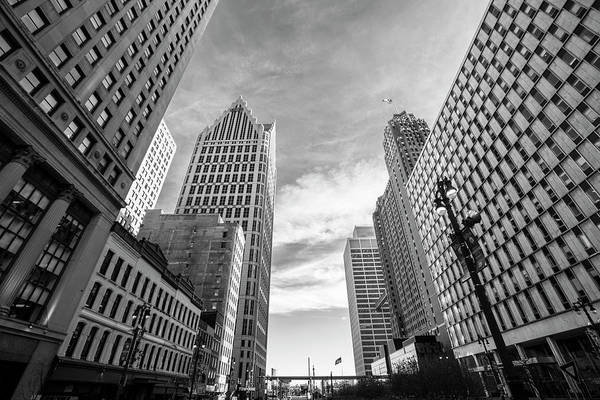Michigan Ave Photograph - Woodward Ave Detroit  by John McGraw