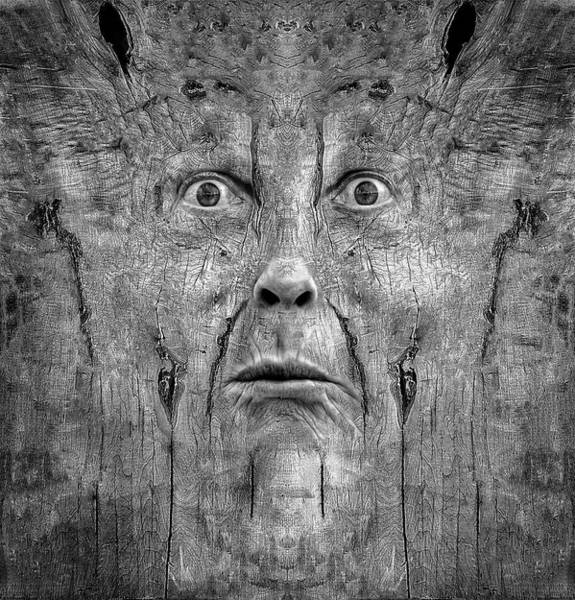 Digital Art - Woody 219 Bw by Rick Mosher