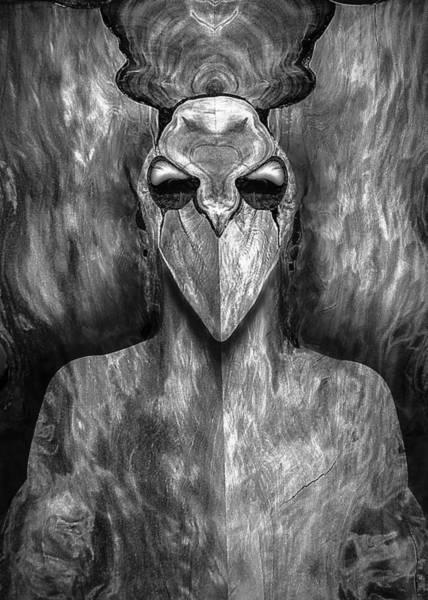 Digital Art - Woody 30bw by Rick Mosher