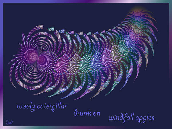 Wooly Caterpillar Haiga Art Print
