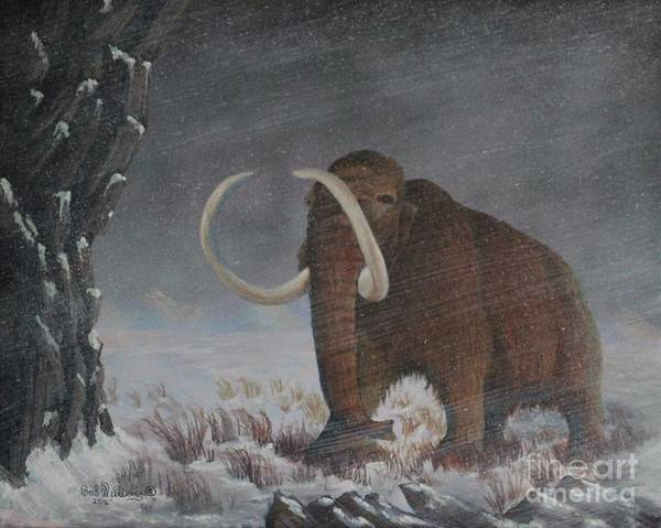 Painting - Wooly Mammoth......10,000 Years Ago by Bob Williams