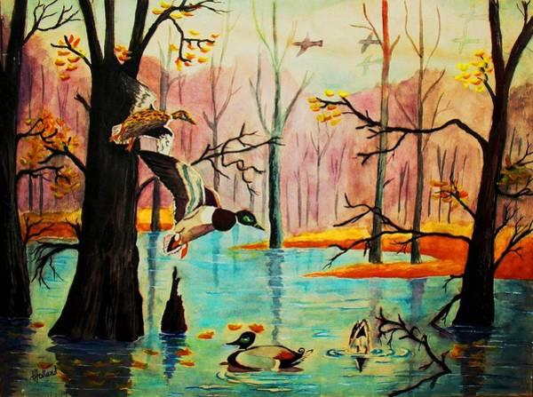 Wall Art - Painting - Wooodland Wonders by Hazel Holland