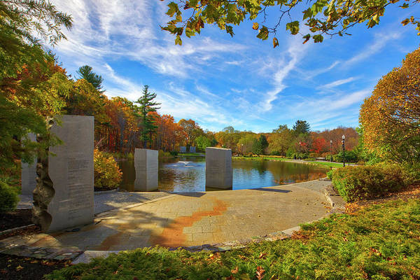 Photograph - Worcester Massachusetts Vietnam Veterans Memorial  by Juergen Roth