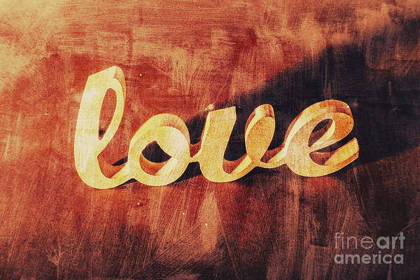 Wall Art - Photograph - Word Art Romance by Jorgo Photography - Wall Art Gallery