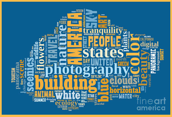 Digital Art - Word Cloud Of Popular Faa Keywords by Edward Fielding