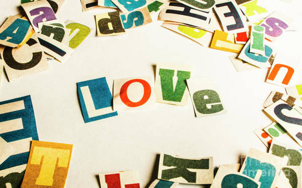 Love Notes Wall Art - Photograph - Word Of Love by Jorgo Photography - Wall Art Gallery