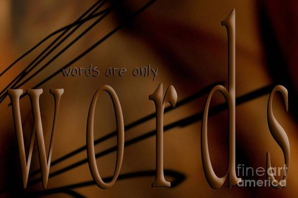 Digital Art - Words Are Only Words 4 by Vicki Ferrari