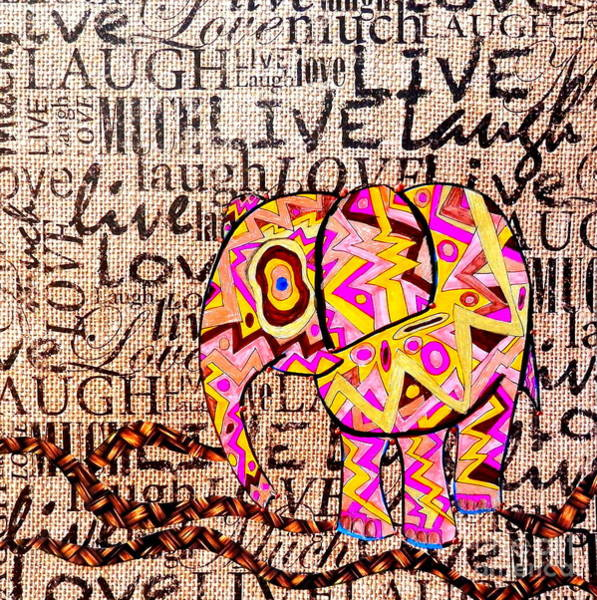 Earthy Drawing - Words Of Life by L Cecka