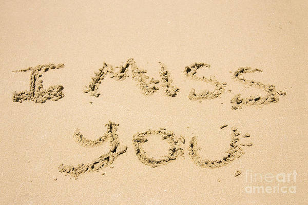 Miss You Photograph - Words Of Loss by Jorgo Photography - Wall Art Gallery