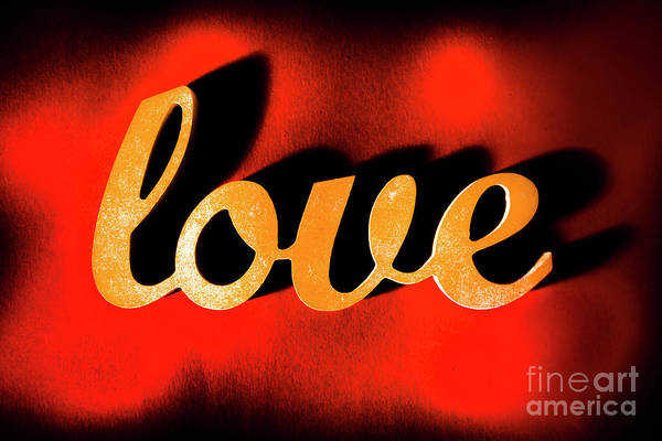 Text Wall Art - Photograph - Words Of Love And Retro Romance by Jorgo Photography - Wall Art Gallery