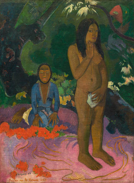 Painting - Words Of The Devil by Paul Gauguin